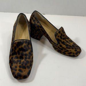 Bettye Muller animal print block heels size 36